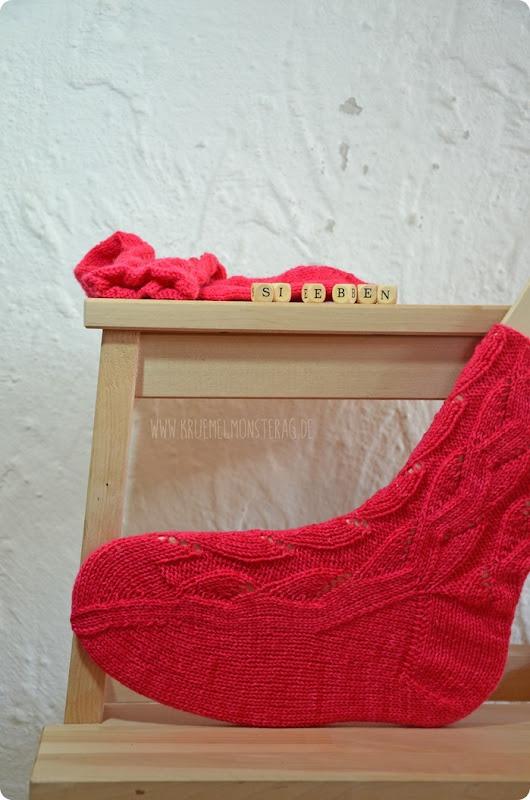 Sieben 20fünfzehn (04) Tausendschön Pink Muster Pink Gr. 37_38