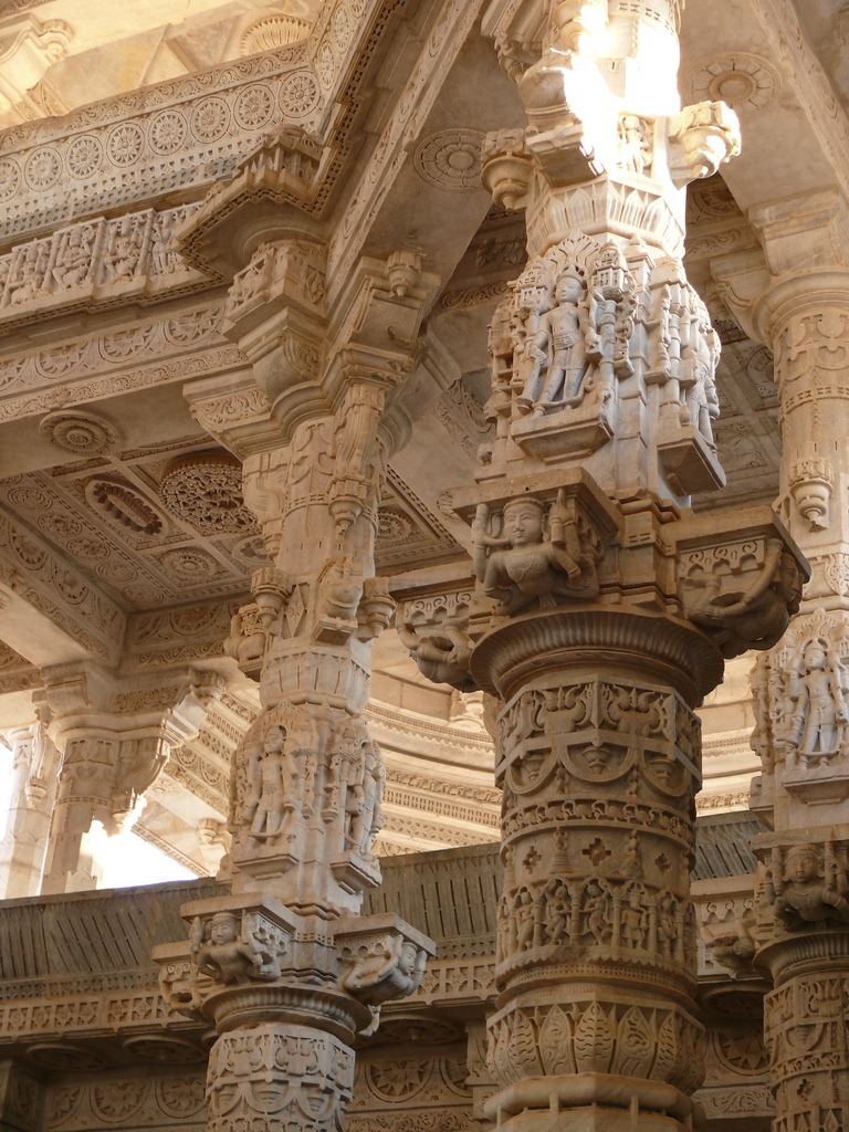 The carved pillars of ranakpur jain temple no two