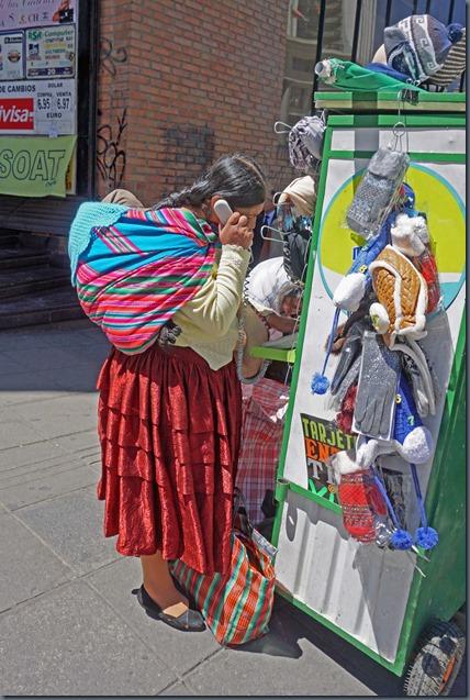 La Paz öffentliches Telefon