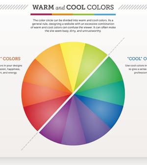 Infografía para aprender sobre la teoría de colores