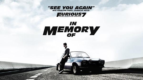 Makna dan Terjemahan Lirik Lagu See You Again (Wiz Khalifa ft. Charlie Puth)