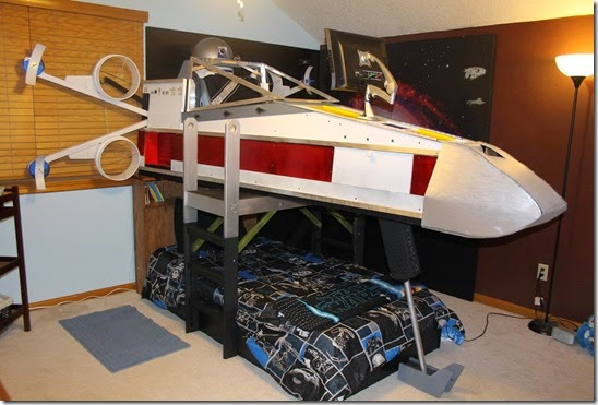 x wing fighter bed