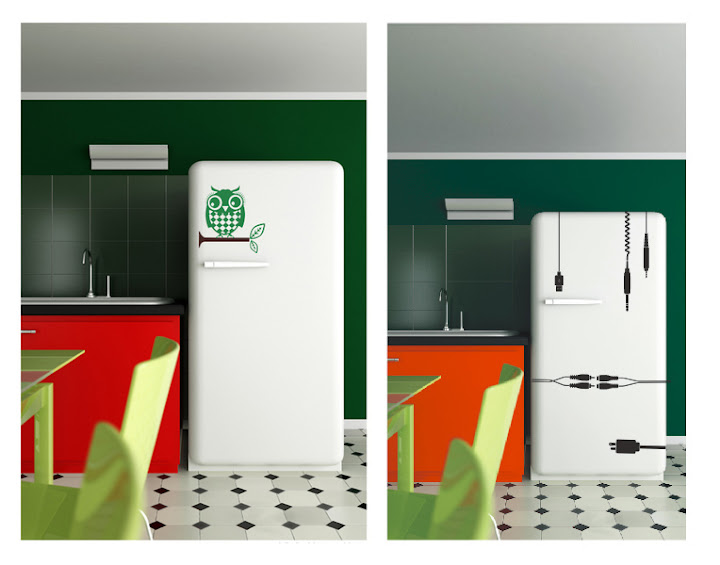 Wandaufkleber für den Kühlschrank