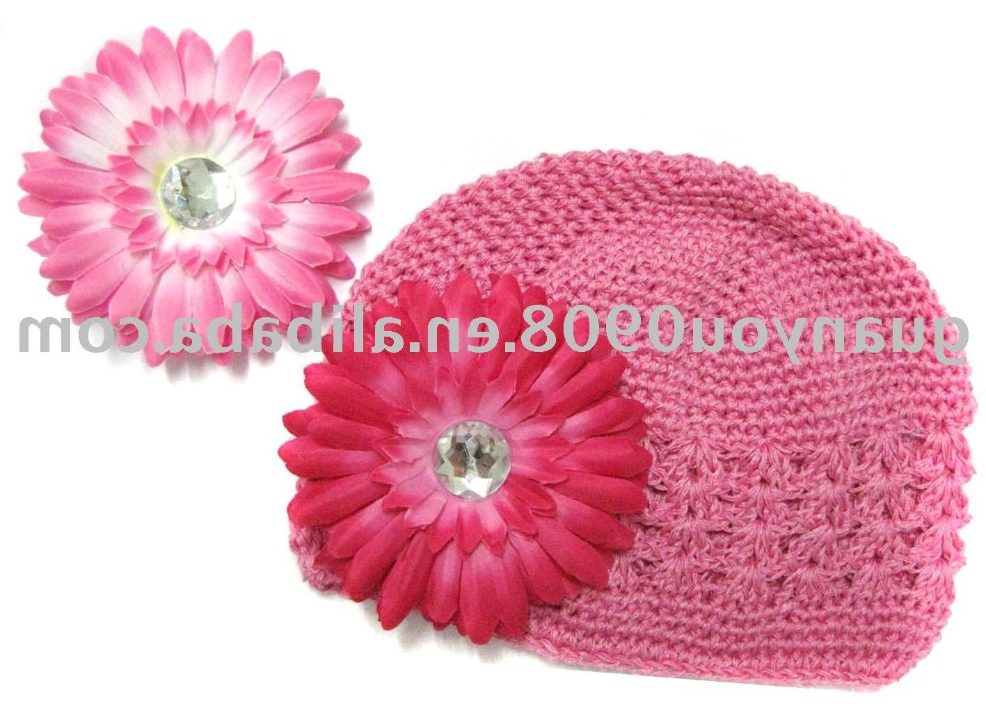 Crochet Kufi Hats with Daisy Flowers Fashion Hair Accessories China
