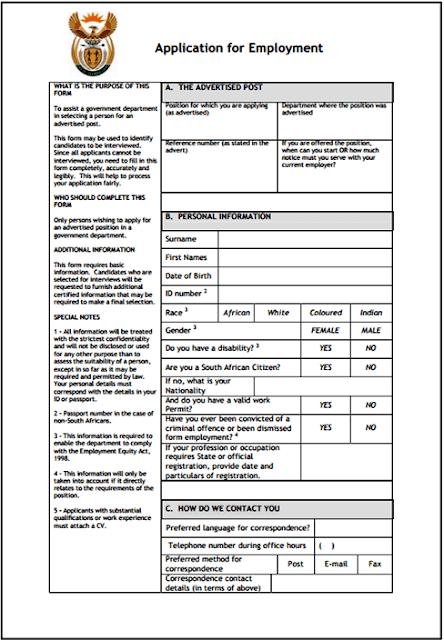 Z83 Application Form For Government Job Applications Sas Nr1