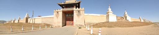 Panoramic view of Erdene Zuu