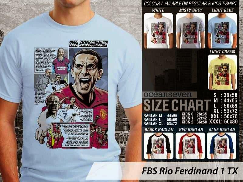 Kaos bola Rio Ferdinand 1 Rio Ferdinand distro ocean seven
