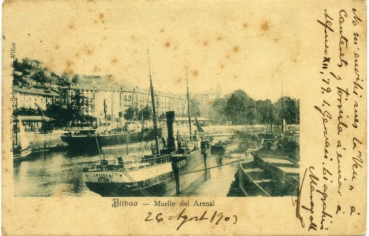 Vapor COTILLO en el muelle del Arenal. Ca. 1900.jpg