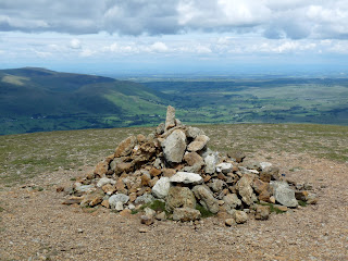 Great Dodd Summit towards to Pennines.