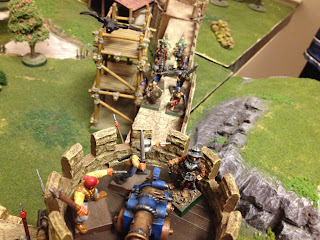Undead charge the cannon turret