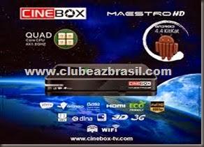 CINEBOX MESTRO HD ANDROID QUAD COM - LANÇAMENTO