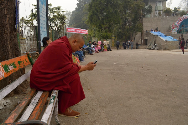 дарджилинг, центральная площадь, монах