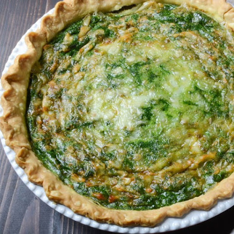 Homemade Spinach Gruyere Quiche