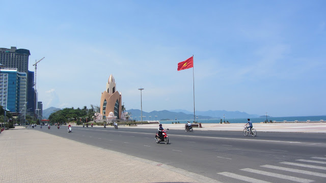 Trầm Hương Tower along Nha Trang's waterfront.