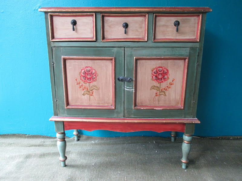 Floral Sewing Cabinet