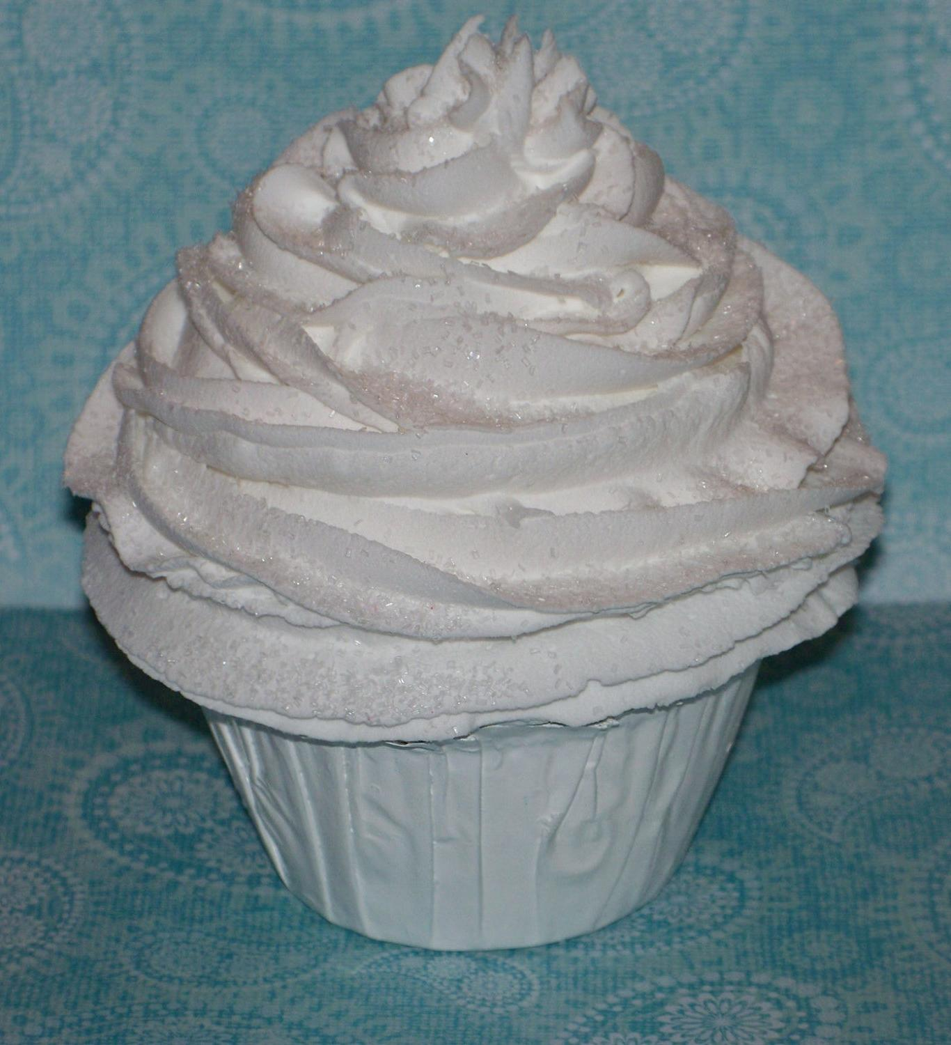 Shabby Chic Cottage Classic White Large White Cupcake for Weddings,