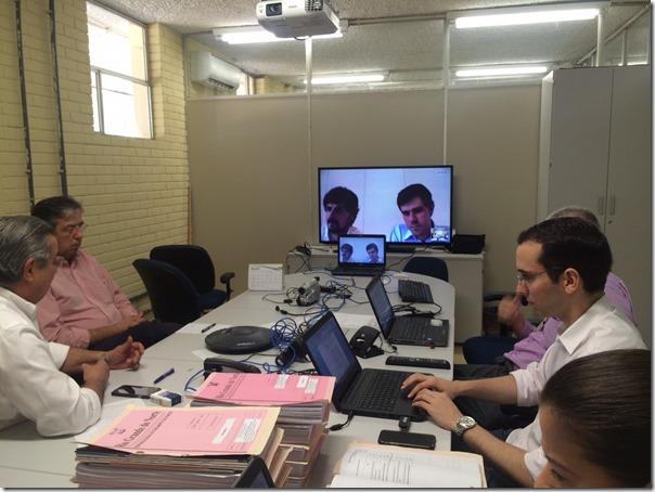 Video- conferência com consórcio vencedor da licitação dos estudos do Parque Tecnológico