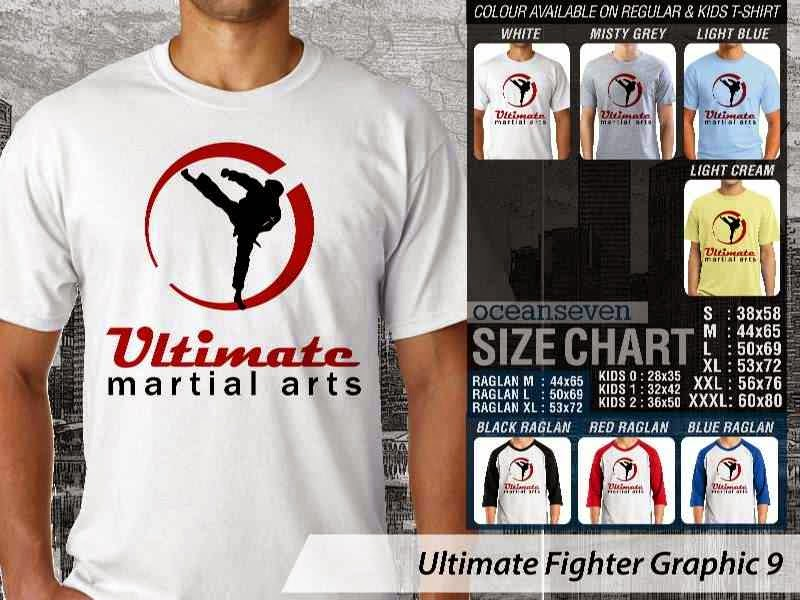 Kaos UFC Ultimate Fighter Ultimate Martial Arts Graphic 9 distro