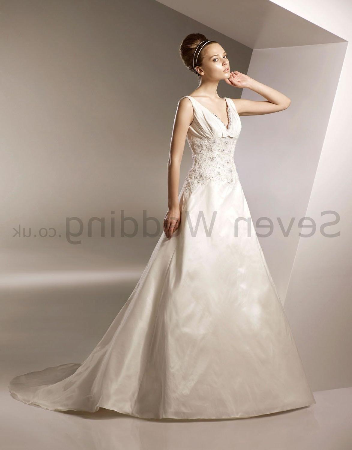 Many of the wedding dresses we