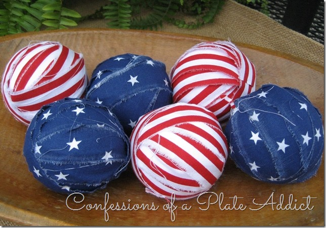CONFESSIONS OF A PLATE ADDICT Patriotic Rag Ball Filler