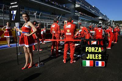 Forza Jules Ferrari в поддержку Жюля Бьянки на Гран-при России 2014