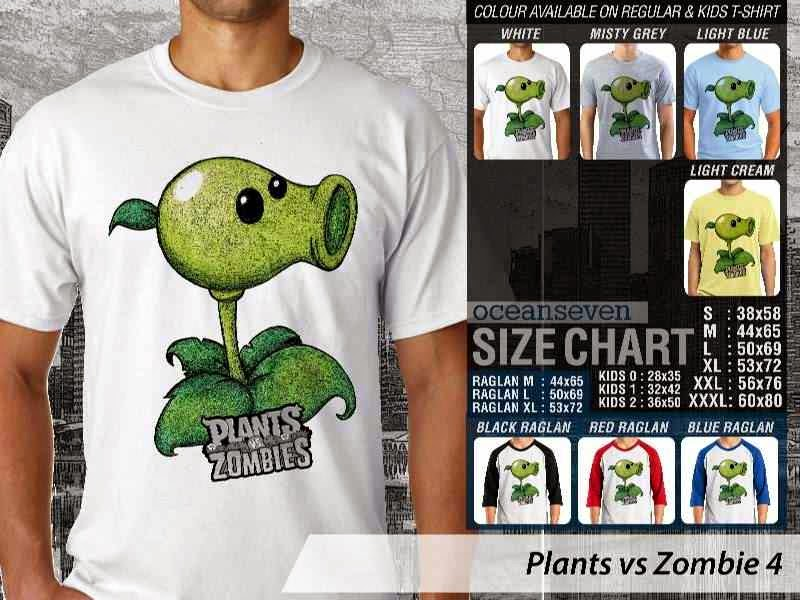 KAOS Plants VS Zombie pvz 4 Game Lucu distro ocean seven