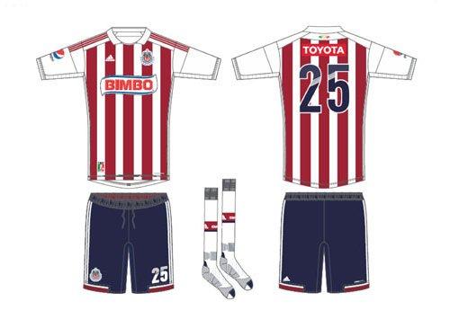 diseño del nuevo uniforme de las chivas del Guadalajara