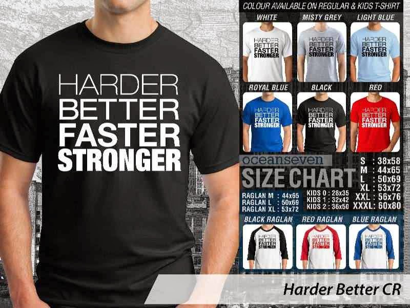 KAOS Desain Fitness & Gym Harder Better distro ocean seven