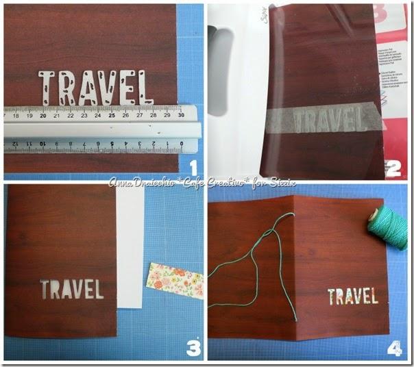 sizzix big shot plus - tutorial - scrapbooking - mini album - travel journal - by Anna Drai - cafecreativo