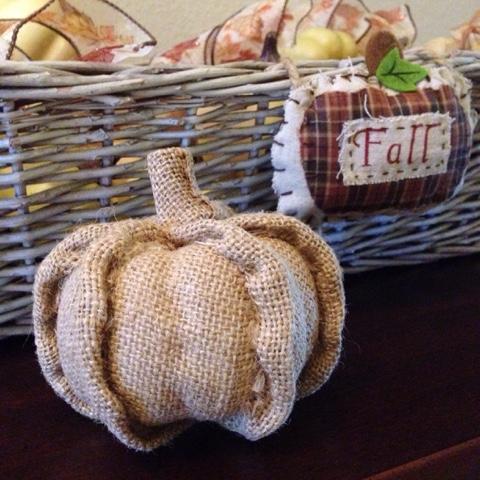 kirklands burlap pumpkins
