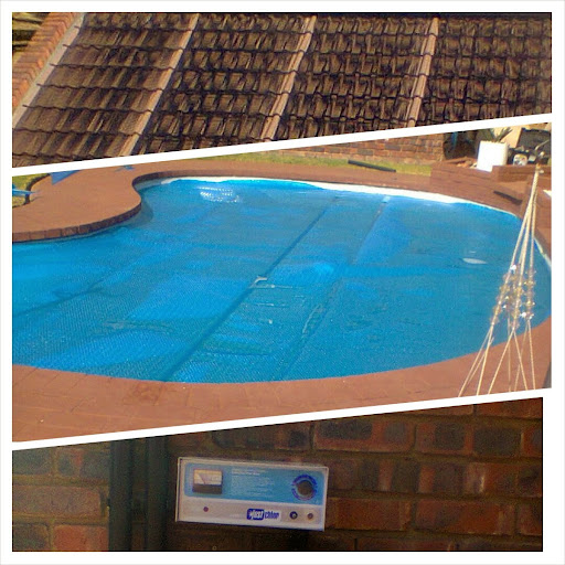 Robert Waters of Pretoria #solar #poolheating panels, salt #chlorinator & Solar #blanket cover installed www.hitemp.co.za Call 0860448367 for a free quote on solar or #heatpump