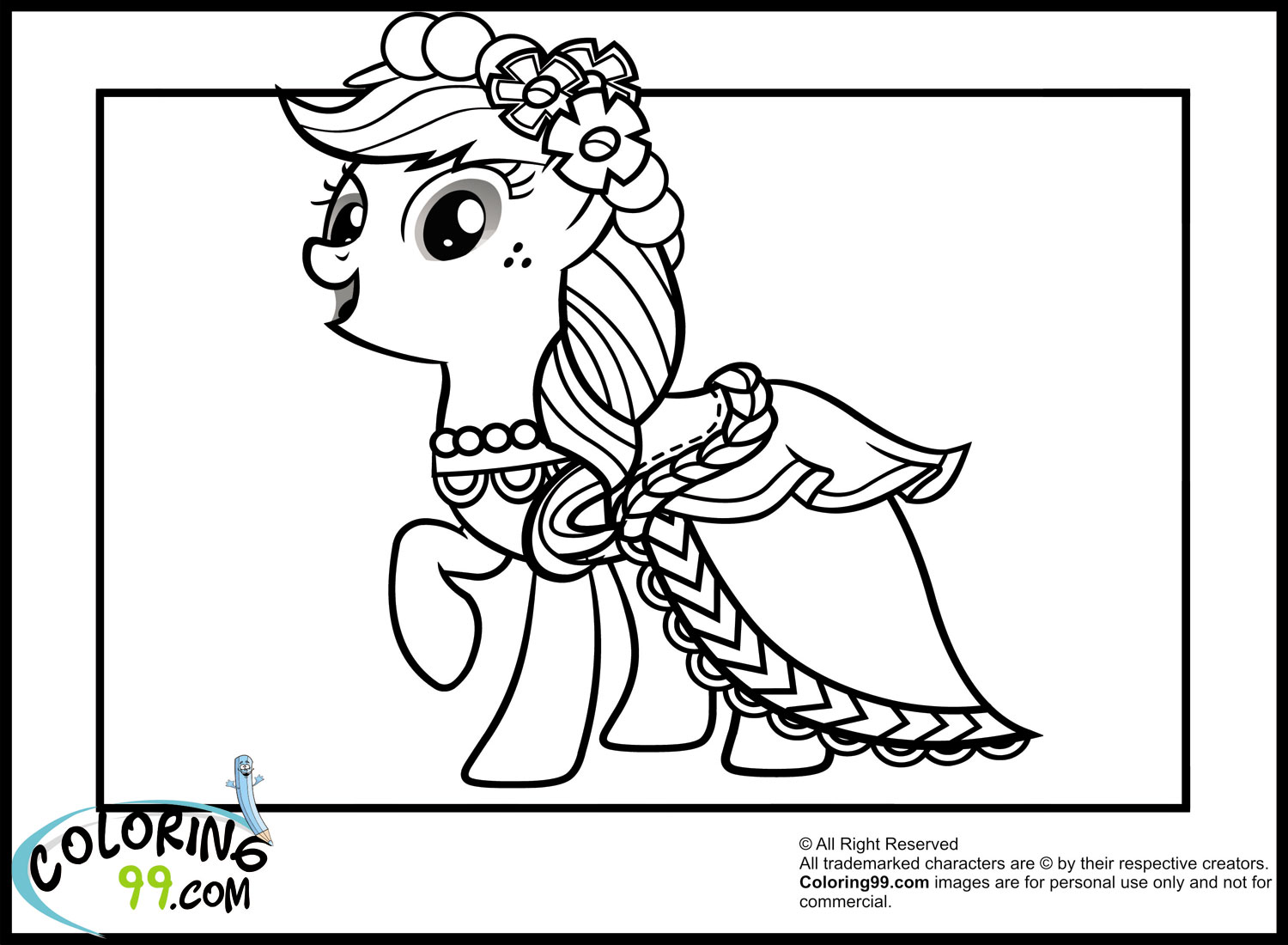 printable coloring pages of my little pony - My Little Pony Fluttershy coloring pages for kids printable free