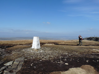 Buckden Pike Trig Pillar ... and Dave