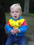 Otto spiser madpakke i Hareskoven...