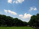 Park by the Arch, St. Louis, Missouri.