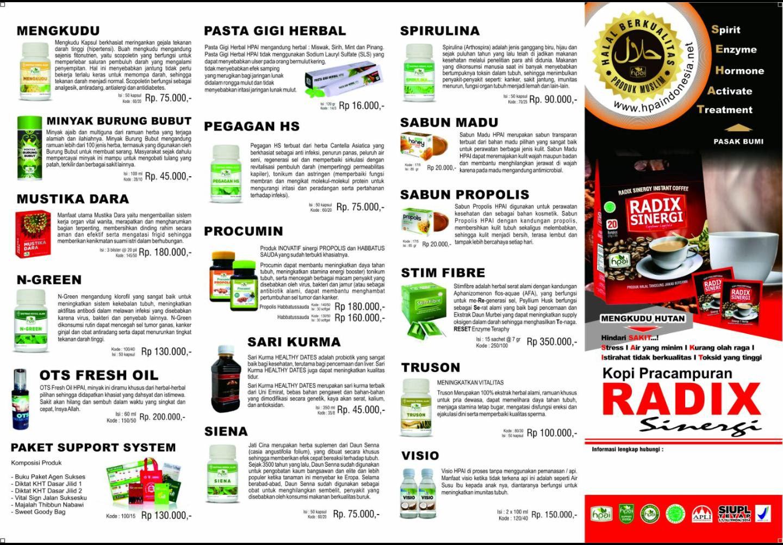 Brosur Produk Hpai A4 Muka1 Selasa Market Member  Dengan Card Dan Katalog