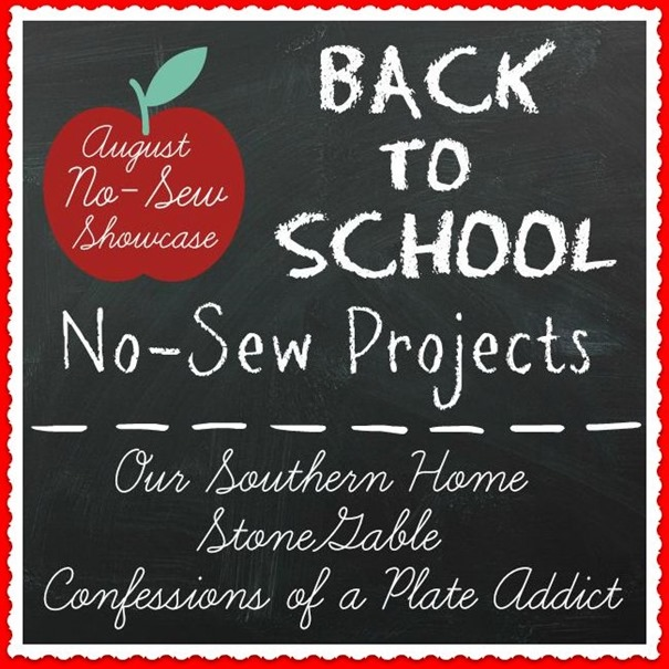 CONFESSIONS OF A PLATE ADDICT  Back-to-School No-Sew Button