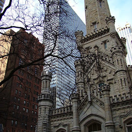 Buildings In Chicago 6 by Yvonne Collins - Buildings & Architecture Other Exteriors