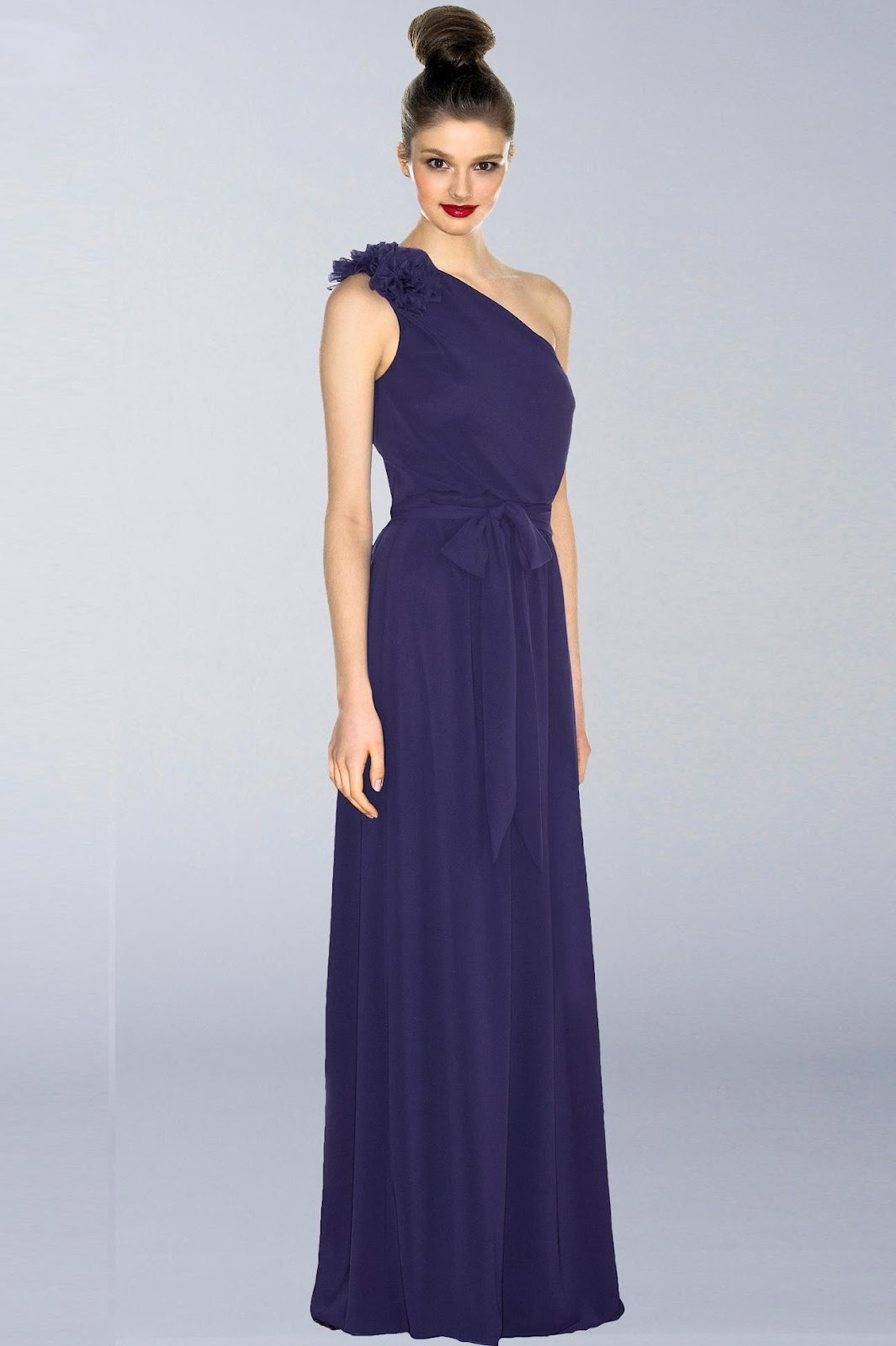 waist Purple Bridesmaid