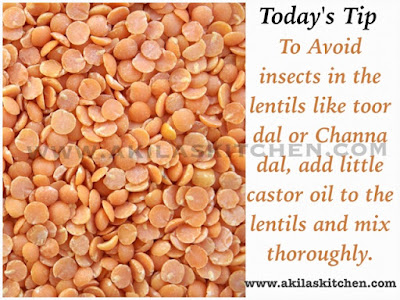How to store toor dal without insects