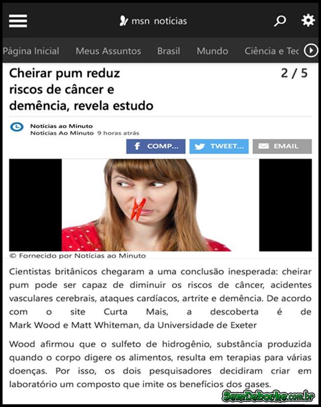 COMPROVADO, CHEIRAR PEIDO FAZ BEM