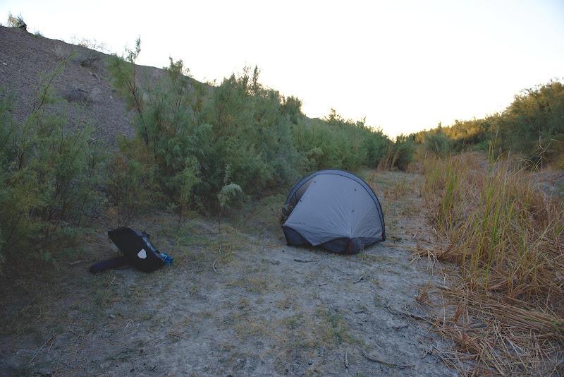 In cautarea unui loc de cort adapostit de vant.
