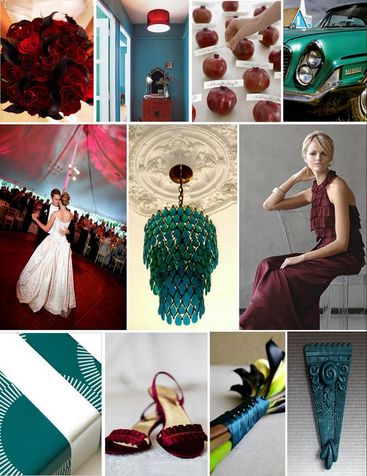 teal and red wedding ideas