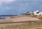 Houses and beach, Sea of Japan coast.