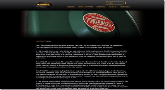 POWERMATICHISTORYホームページ画像