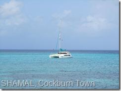 014 SHAMAL at anchor off Cockburn Town