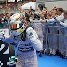 Lewis Hamilton is happy after win