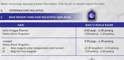 ramadhan, ramadhan 2015, bulan mulia, waktu kerja