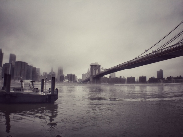 misty Brooklyn Bridge