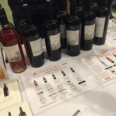 The Blackbird Vineyards table